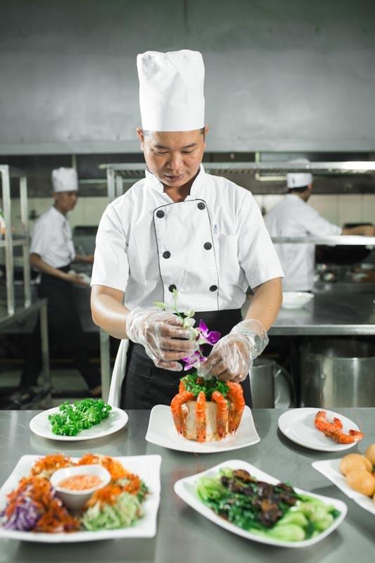 Đội ngũ đầu bếp có nhiều năm kinh nghiệm