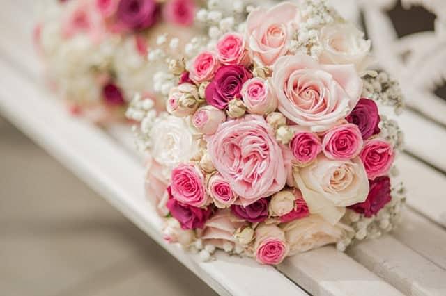 hoa cưới pastel