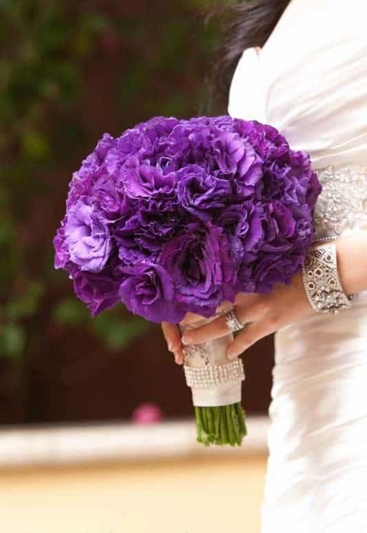 hoa cưới màu tím