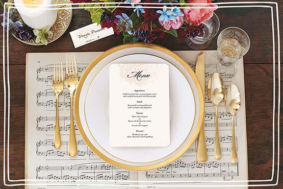 thực đơn tiệc cưới bằng tiếng anh