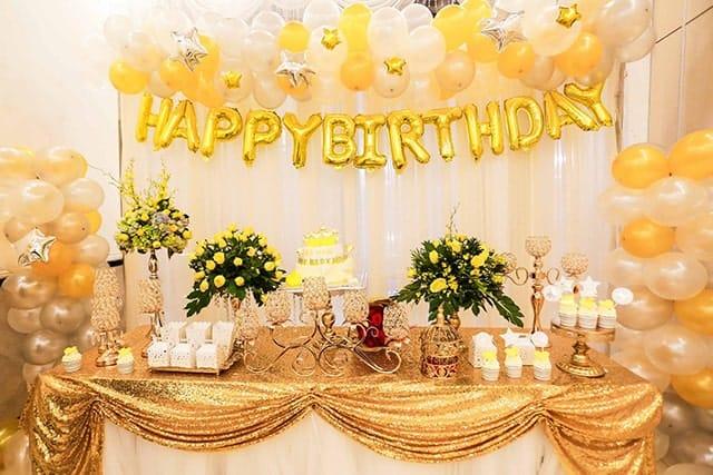 Trang trí cho bữa tiệc sinh nhật sẽ đem đến không gian thật lãng mạn cho bữa tiệc sinh nhật